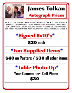 James Tolkan Autograph and Photo Op Prices
