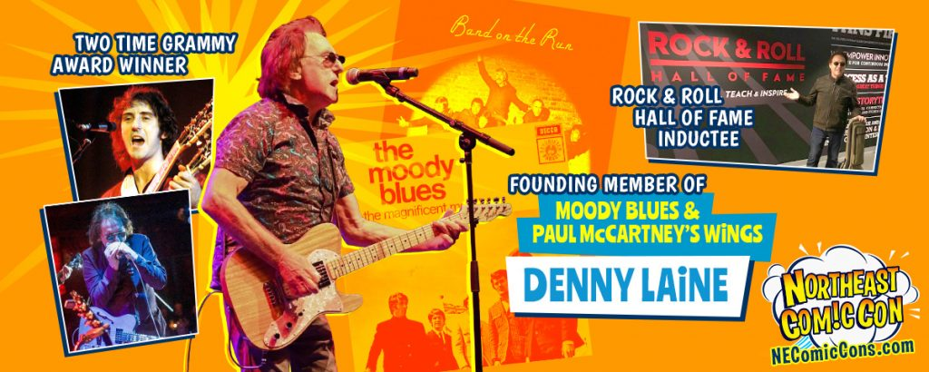 Denny Laine of Paul McCartney's Wings and Moody Blues at NEComicCon